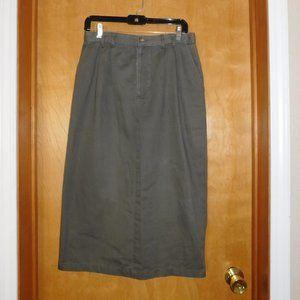 Christopher & Banks Green Khaki Skirt